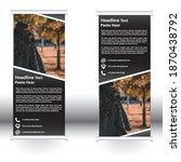 roll up banner standard vector... | Shutterstock .eps vector #1870438792