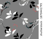 beautiful seamless floral... | Shutterstock . vector #1870441795