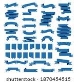 blue ribbons  pennant flag set...   Shutterstock .eps vector #1870454515