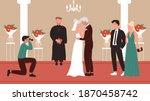senior people wedding ceremony... | Shutterstock .eps vector #1870458742