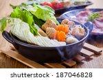 shabu shabu asian cuisine | Shutterstock . vector #187046828