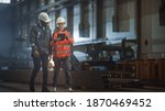 Two heavy industry engineers...