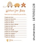 baby shower game wishes for... | Shutterstock .eps vector #1870502128