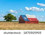An Abandoned Old Barn With The...