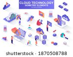 cloud technology bundle of... | Shutterstock .eps vector #1870508788