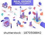 Real Estate Bundle Of Isometric ...