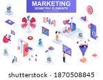 marketing strategy bundle of... | Shutterstock .eps vector #1870508845