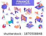finance bundle of isometric... | Shutterstock .eps vector #1870508848