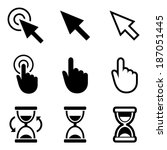 cursor pointer icons. mouse ... | Shutterstock .eps vector #187051445
