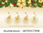 merry christmas and happy new... | Shutterstock .eps vector #1870517398