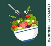 Bowl Fruit  Vegetable Salad....