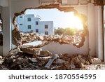 Interior Of House Demolition...