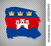 flag jonkoping  county  brush...