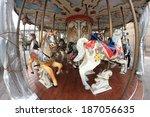 Empty Carousel In A Fish Eye...