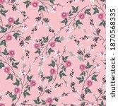 seamless small flower pattern... | Shutterstock .eps vector #1870568335