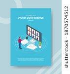 technology video conference men ...   Shutterstock .eps vector #1870574512