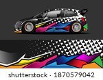 car livery graphic vector with... | Shutterstock .eps vector #1870579042