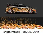 car livery graphic vector with... | Shutterstock .eps vector #1870579045
