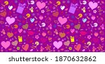 seamless valentine pattern with ... | Shutterstock .eps vector #1870632862
