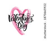 happy valentine's day vector... | Shutterstock .eps vector #1870665922