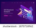 seo keyword analysis banner.... | Shutterstock .eps vector #1870718962