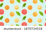 seamless pattern with citrus... | Shutterstock . vector #1870724518