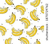 Banana Tropical Fruit Vector...