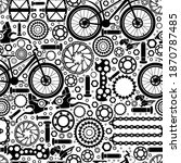 bicycle parts. seamless pattern ... | Shutterstock .eps vector #1870787485
