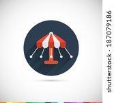 carousel icon. flat design...