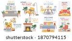 scandic cozy interiors. comfy... | Shutterstock .eps vector #1870794115