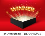 winner glowing box with golden... | Shutterstock .eps vector #1870796938