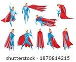 superheros low poly. vector... | Shutterstock .eps vector #1870814215