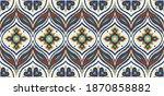 ikat border. geometric folk... | Shutterstock .eps vector #1870858882