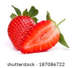strawberry isolated on white... | Shutterstock . vector #187086722