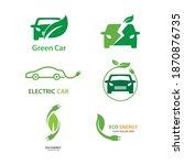 electric car green car hybrid... | Shutterstock .eps vector #1870876735
