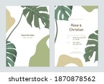 floral wedding invitation card... | Shutterstock .eps vector #1870878562