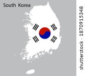 icon with map white south korea ...   Shutterstock .eps vector #1870915348