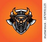 viking e sport mascot logo | Shutterstock .eps vector #1870931125