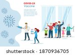 doctor holding covid 19 vaccine ... | Shutterstock .eps vector #1870936705