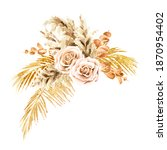 boho composition of dried...   Shutterstock . vector #1870954402