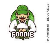 healthy food logo character...   Shutterstock .eps vector #1870973128