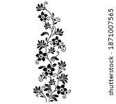black and white ornamental... | Shutterstock .eps vector #1871007565