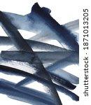 watercolor navy blue grunge...   Shutterstock . vector #1871013205