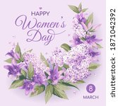 square 8 march women's day... | Shutterstock .eps vector #1871042392