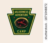 wilderness adventure logo... | Shutterstock . vector #1871048872
