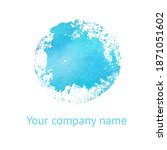 watercolor blue planet isolated ... | Shutterstock . vector #1871051602