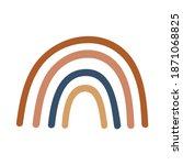 boho rainbow design element....   Shutterstock .eps vector #1871068825