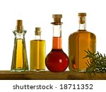 four kind of oil on a self | Shutterstock . vector #18711352
