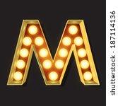 marquee light letter   vector   ... | Shutterstock .eps vector #187114136