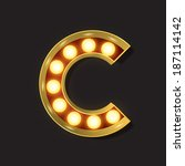 marquee light letter   vector   ... | Shutterstock .eps vector #187114142